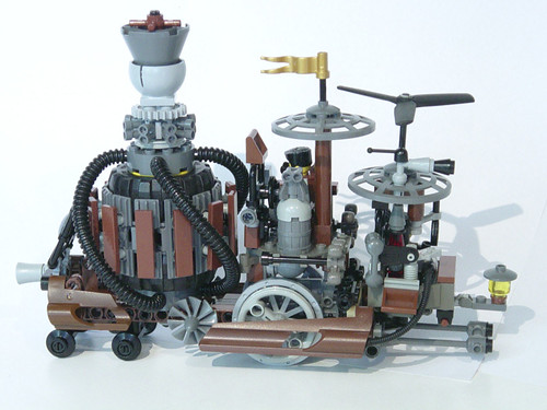 LEGO MOC Steampunk Train Locomotive