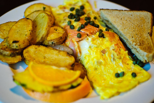 Photo by Armughan Javaid:  Salmon Omelette, Eggspectations,