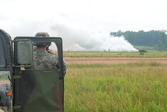 229th Chemical Company seeks zero visibility (Virginia Guard Public Affairs) Tags: june training soldier army virginia diesel fort smoke guard vegetable company national generators oil annual humvee 2009 chemical airfield smokescreen pickett m56 at 229th