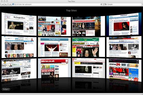 Safari Top Sites window dump