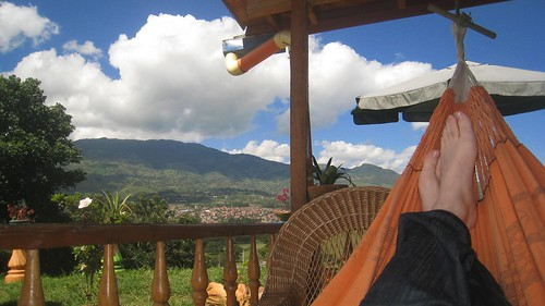 Relaxing at a friend's finca (country house) in Colombia.