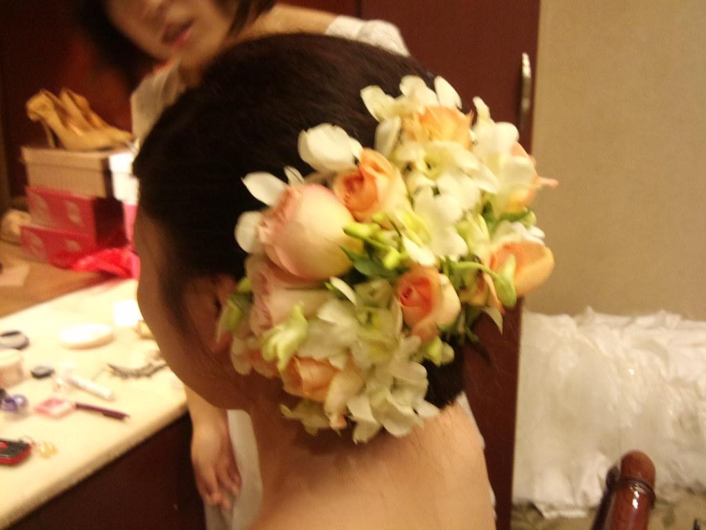 头花,香槟玫瑰