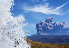 Hot and cold (Jaana-Marja) Tags: waterfall iceland glacier ash soe eruption eyjafjallajökull fljótshlíð ashcloud gluggafoss absolutelystunningscapes eyjafjallagos