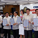 "Six of the nine winning senators hold their certificates after they were proclaimed by the Commission on Elections at the PICC. ( Sens. Ramon Revilla,Jr., Jinggoy Estrada, Juan Ponce Enrile, Pia Cayetano Ralph Recto & Vicente ""Tito"" Sotto III )"