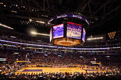 no sun in LA (Andy Kennelly) Tags: world california arizona david game home basketball stars jack lights one tv los big team hand angle angeles crowd wide center screen kobe finals larry conference celebrities nicholson held lakers staples cheering champions suns stallone playoff 10mm stalone