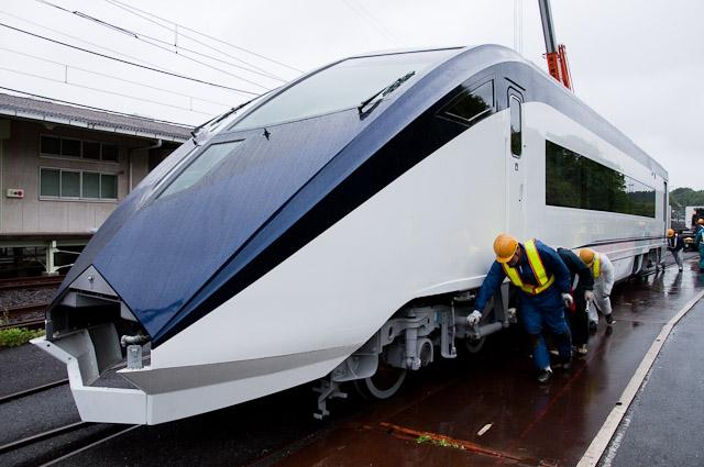 京成電鉄スカイライナーAE形 AE7-8搬入