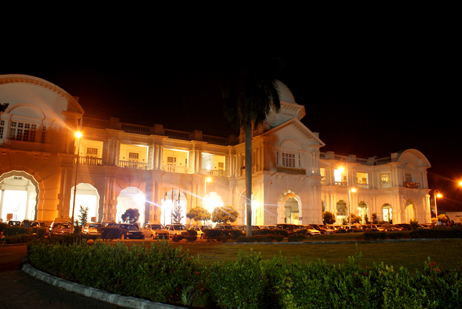 hotel majestic at night