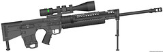 PDW longrifle sniper (timberfox15) Tags: gun rifle weapon scifi pmg battletech