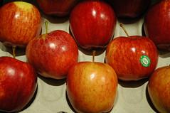 Lygon St Grocer (Aime N.) Tags: red food apple fruit grid nikon pattern d70 grocer reddelicious