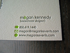 Megan K Events Letterpress Cards