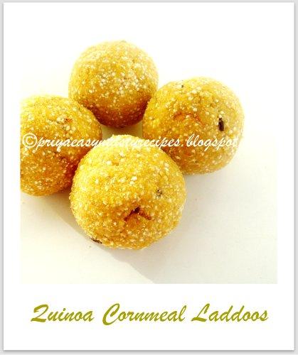 Quinoa Cornmeal Laddoos
