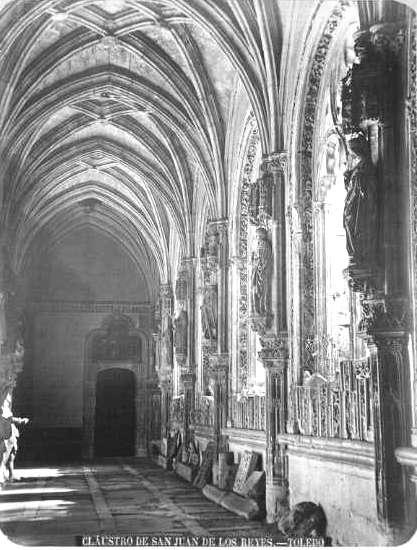 Claustro de San Juan de los Reyes en el siglo XIX. Fotografía de Casiano Alguacil