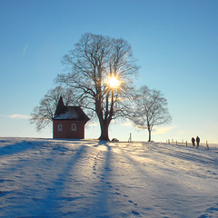 just another visit at the little chapel (Werner Schnell Images (2.stream)) Tags: trees winter sun snow church chapel explore pp werner ws kapelle schnell blueribbonwinner supershot explored friesenhagen abigfave theunforgettablepictures wernerschnell wernerschnellimages ©wernerschnellallrightsreserved