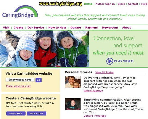 CaringBridge. Free Websites That Support And Connect Loved Ones During Critical Illness.