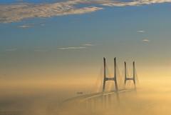 Merging in the mist (F H Mira) Tags: bridge portugal lisboa pont