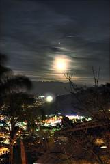 moonrise from mulholland drive (mephistofales) Tags: city longexposure moon night clouds landscape la losangeles lowlight nikon cityscape hills 101 socal d200 southerncalifornia hdr highdynamicrange mulholland laatnight