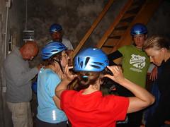 Vorbereitung auf den Klettersteig durch die Schiara
