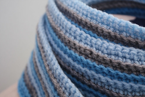 Unisex Scarf in Blue and Grey (by tallybates)