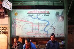 Pai's map (Poakpong) Tags: canon thailand 350d newyear chiangmai pai canoneos350d maehongson