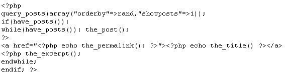 Código para post aleatorio