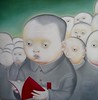Painting from Shenzen, China (balavenise) Tags: china city painting hongkong book asia ciudad peinture mao asie enfants 香港 chinois ville chine maozedong petitlivrerouge livrerouge flickrgiants