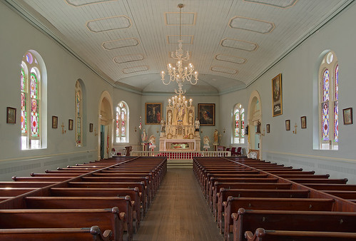 Old Saint Ferdinand Shrine, in Florissant, Missouri, USA - Church nave
