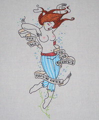 Drowned Girl (lilyvanilli72) Tags: girl tattoo embroidery banner bubbles boob drowned