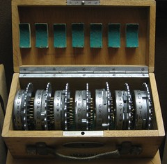 ENIGMA Rotor Set (brewbooks) Tags: history museum code technology machine maryland enigma cipher rotor cryptology nationalcryptologicmuseum keying cryptographic annapolisjunction m6829