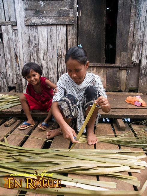 Tawi-Tawi Bajau Village Banig Weaver