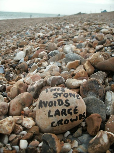 stones text writing poetry Southsea beach