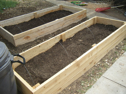 Pictures of raised beds.