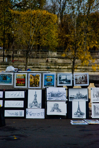 Art by the Seine river