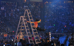 Jeff Hardy falling to his ultimate demise.