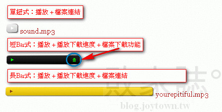 jQuery版MP3播放器使用範例