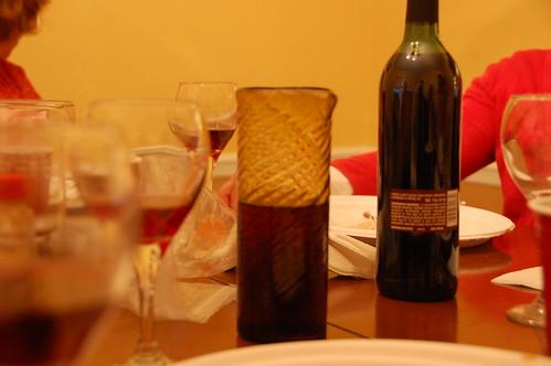 Easter seder: wine