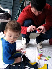 Painting With His Daddy