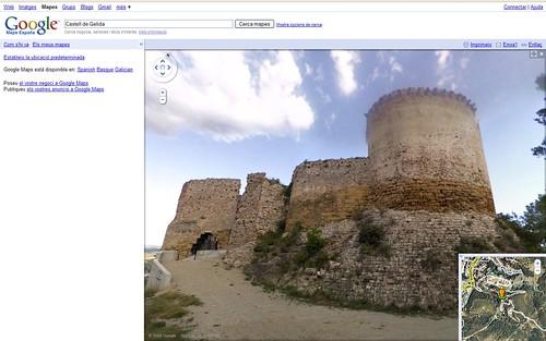 Google Street View al Penedès - Castell de Gelida