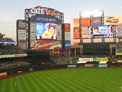 Highdef scoreboard at Citi Field