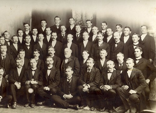 Isaac Brough Law (back row, far right) - Missionary Group