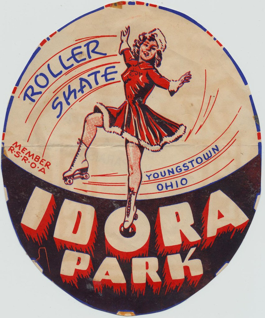 Roller skating rinks youngstown ohio - Idora Park Youngstown Ohio The Cardboard America Archives Tags Ohio Vintage Beach Skateland