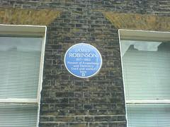Photo of James Robinson blue plaque