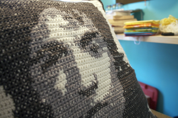 Crocheted Bruce Springsteen Pillow