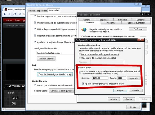 Configurando Privoxy en Chrome