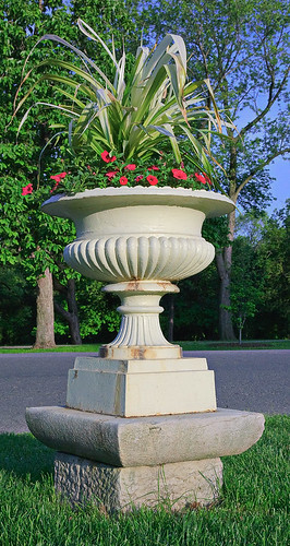 Tower Grove Park, in Saint Louis, Missouri, USA - cast iron planter