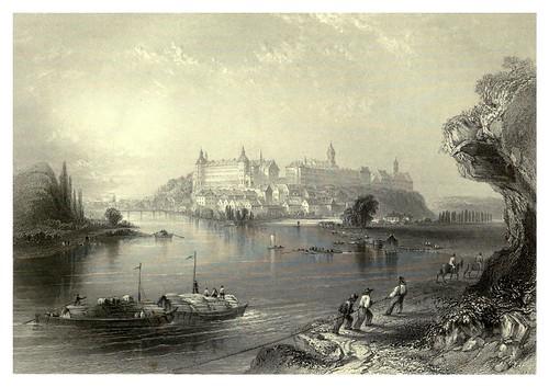 003-Neuburg con el antiguo palacio ducal al fondo 1844