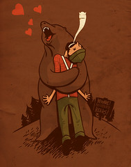 passionate bear (mathiole) Tags: bear love nature hug human passion rest lumberjack crazylabel