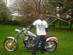 God's Lyric shirt with motorcycle