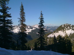 True summit on the right. Granite Lookout and Kaleetan in between the trees.