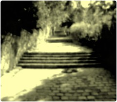 into nothing (gallmese) Tags: blackandwhite bw stair budapest cobblestone magyarország mymood nowayout whereamigoingto feketefehér lépcső czarnobiały macskakő váralja intonothing