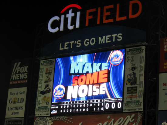 """Make Some Noise"" on the Big Screen (Click to enlarge)"